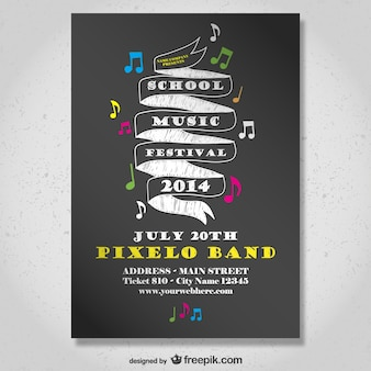 Affiche du festival de musique à l'école