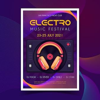 Affiche du festival de musique electro