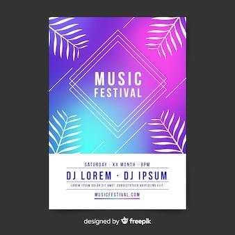 Affiche du festival de musique gradient