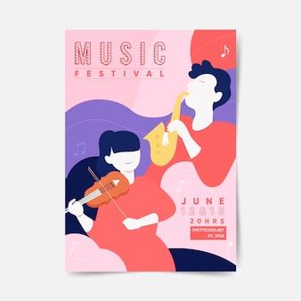 Affiche du festival de musique illustrée 2021