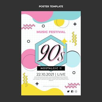 Affiche du festival de musique nostalgique des années 90