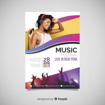 Affiche du festival de musique avec photo