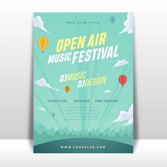 Affiche du festival de musique en plein air