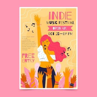 Affiche Du Festival De Musique En Plein Air Vecteur gratuit