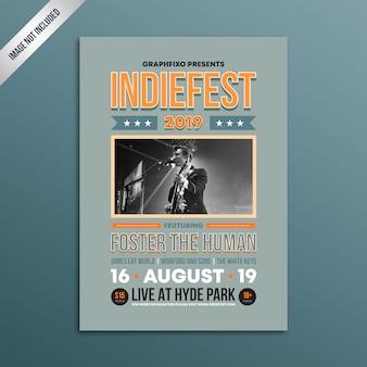 Affiche du festival de musique rock indépendant