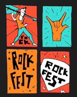 Affiche du festival de musique rock