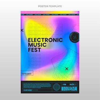 Affiche Du Festival De Musique à Texture Dégradée Vecteur Premium