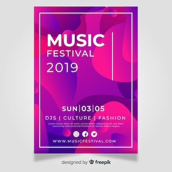 Affiche du festival de musique