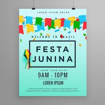 Affiche du festival pour festa junina