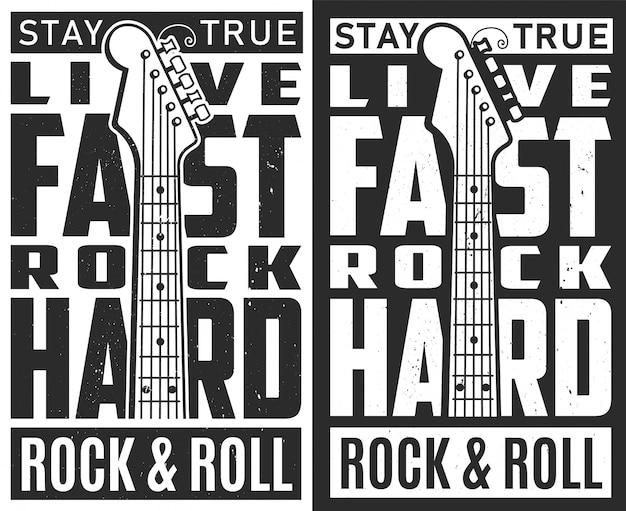 Affiche du festival de rock.