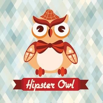 Affiche du hibou hipster