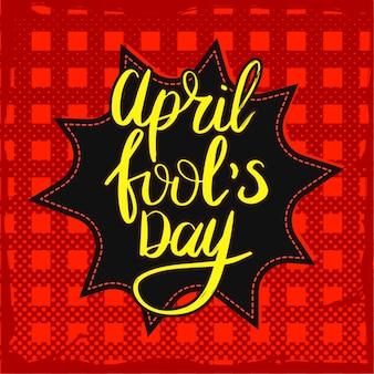 Affiche du jour du poisson d'avril.