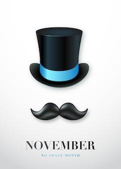Affiche du mois de novembre sans rasage