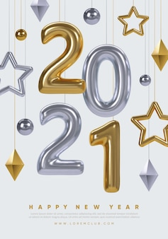Affiche du nouvel an. conception de fond de vacances d'hiver.