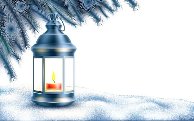 Affiche du nouvel an de noël