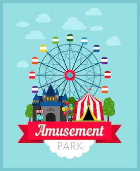 Affiche du parc d'attractions