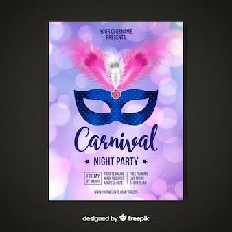 Affiche du parti de carnaval brésilien