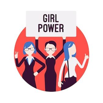 Affiche du pouvoir des filles