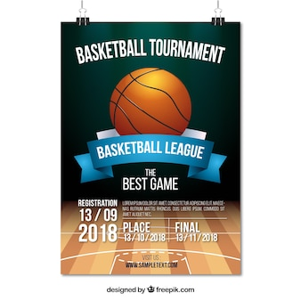 Affiche du tournoi de basket-ball
