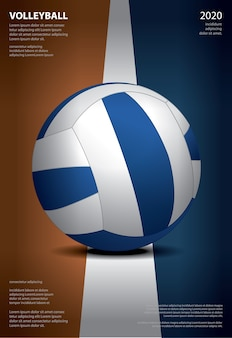 Affiche du tournoi de volleyball