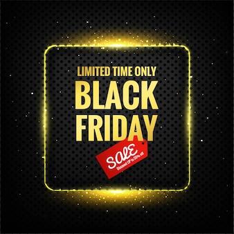 Affiche du vendredi noir de luxe