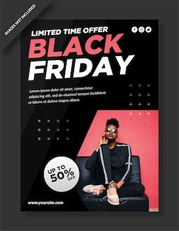Affiche du vendredi noir et publication sur les réseaux sociaux