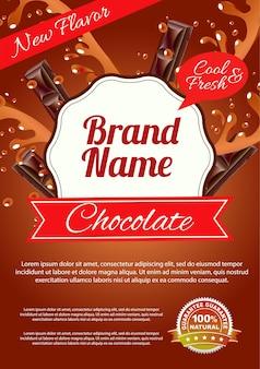 Affiche d'éclaboussure de chocolat
