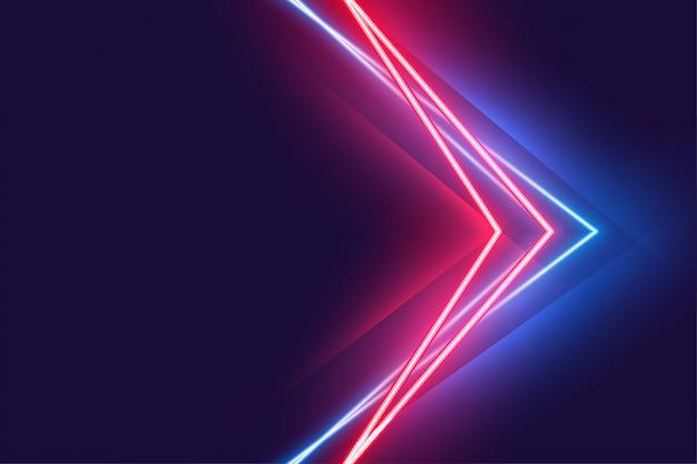 Affiche effet néon stylight dans les couleurs rouge et bleu