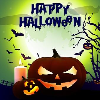Affiche effrayant halloween