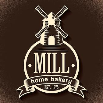 Affiche élégante de boulangerie