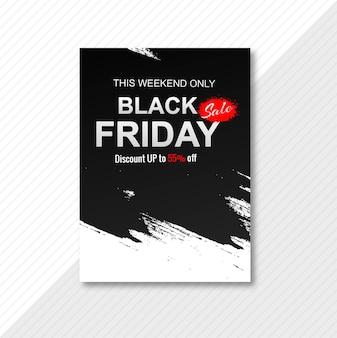 Affiche élégante pour le vendredi noir