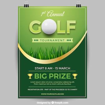 Affiche élégante de tournoi de golf