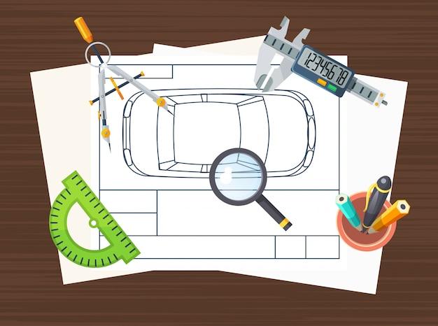 Affiche D'élément De Ligne De Production Vecteur gratuit