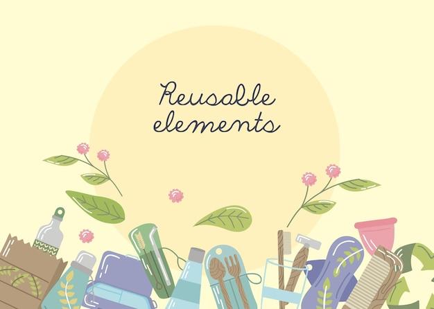 Affiche des éléments réutilisables