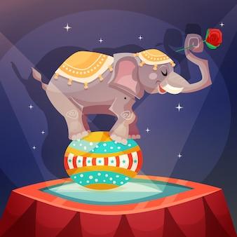 Affiche d'éléphant de cirque