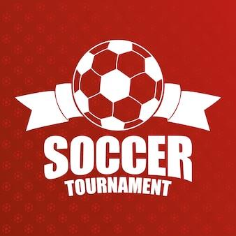 Affiche de l'emblème du sport de football avec ruban
