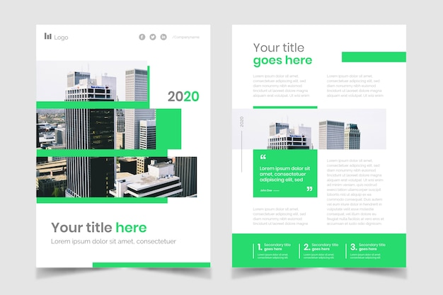 Affiche d'entreprise immobilière avec des bâtiments