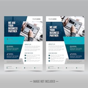 Affiche d'entreprise, modèle de conception de flyer