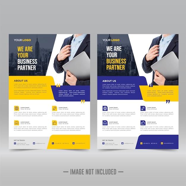 Affiche d'entreprise, modèle de flyer
