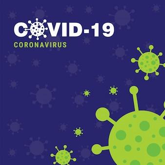 Affiche d'épidémie de covid 19