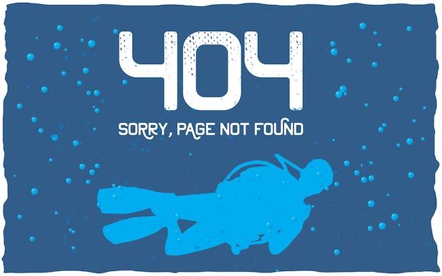 Affiche d'erreur 404 avec page non trouvée à utiliser pour le site web