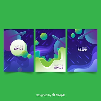 Affiche de l'espace dessiné à la main