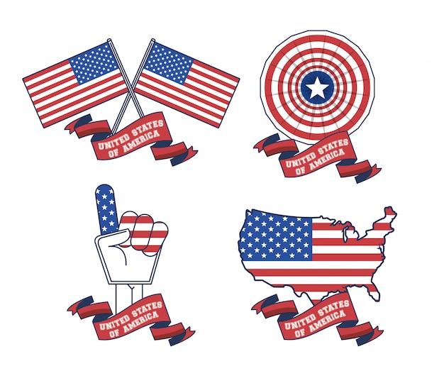 Affiche des états-unis d'amérique
