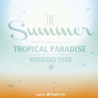 Affiche d'été de paradis tropical