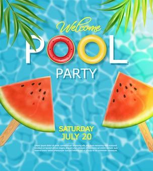 Affiche été et piscine