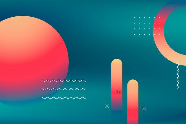Affiche d'été vibrante colorée