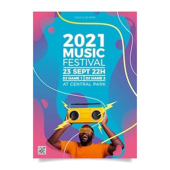Affiche de l'événement musical en 2021