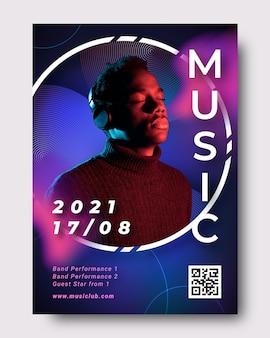 Affiche d'événement musical avec image