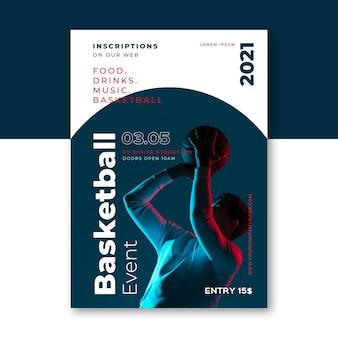 Affiche de l'événement sportif 2021 avec photo