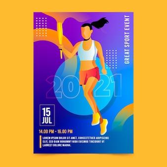 Affiche de l'événement sportif 2021